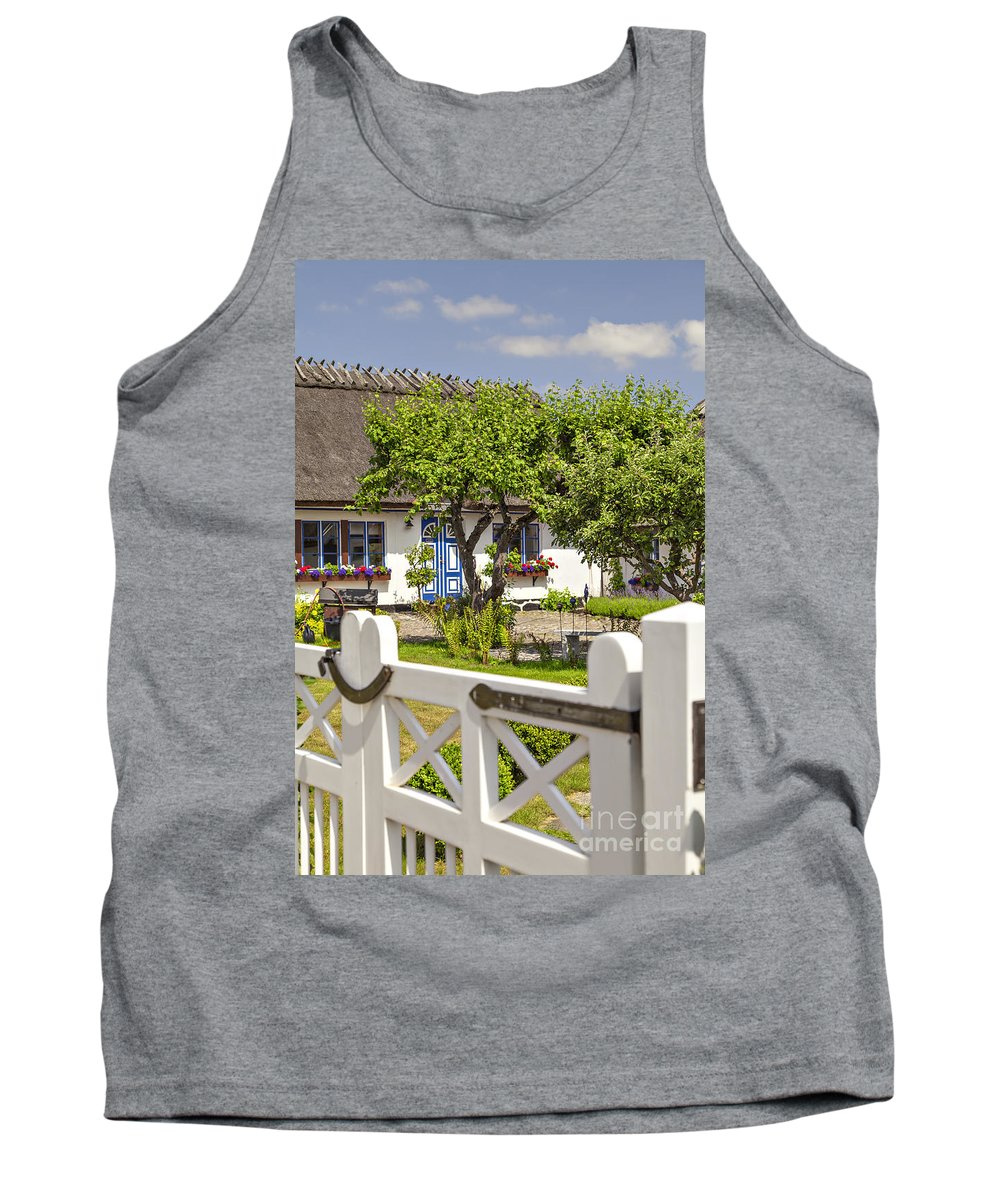 Swedish Tank Top featuring the photograph Thatched Roof Cottage by Sophie McAulay