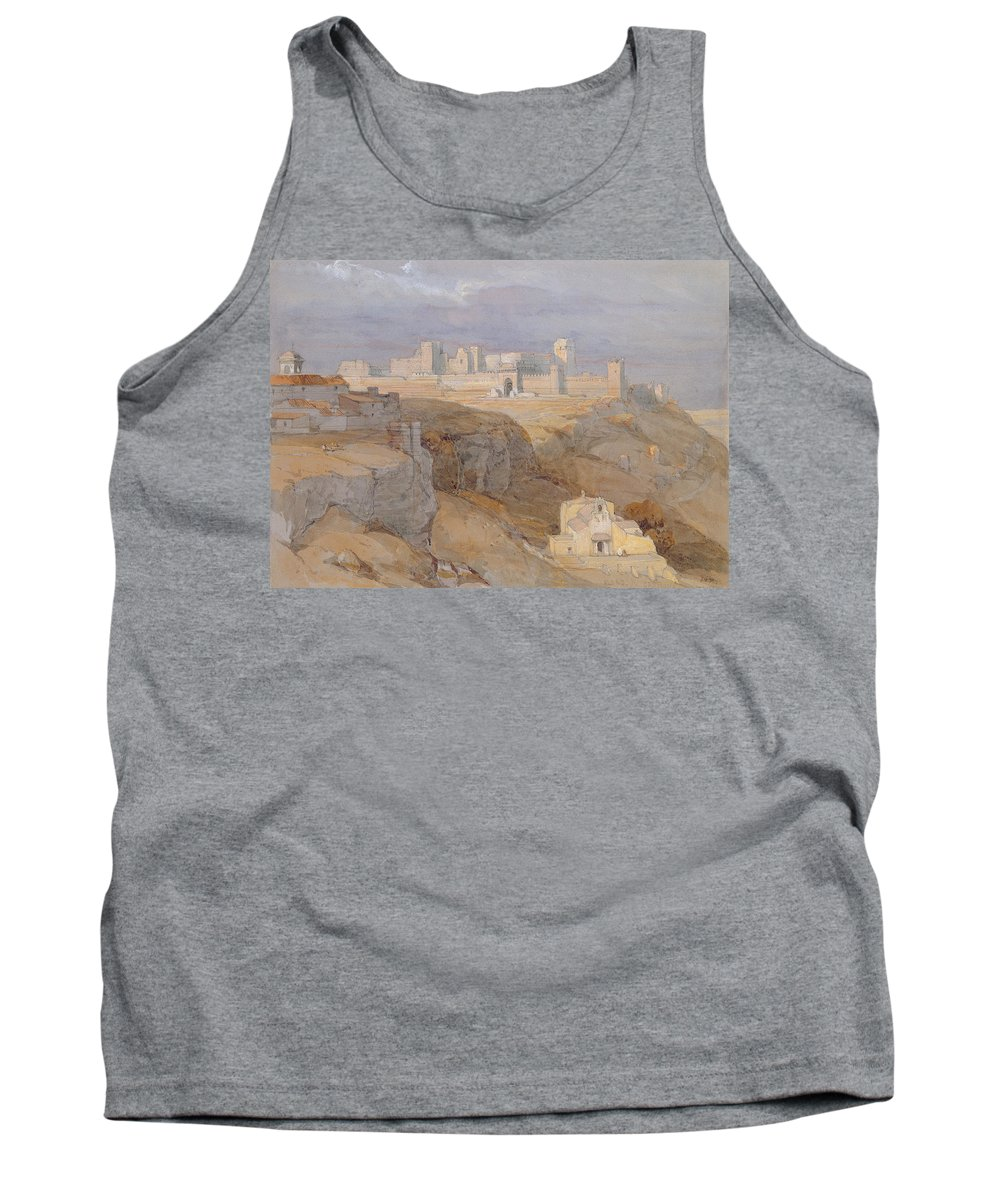 Castle Tank Top featuring the drawing The Alcazar Of Carmona, Andalucia by David Roberts