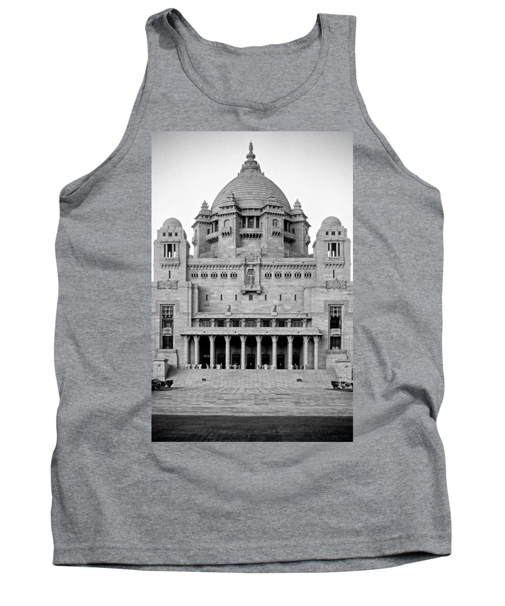 India Tank Top featuring the photograph The Back Door Monochrome by Steve Harrington