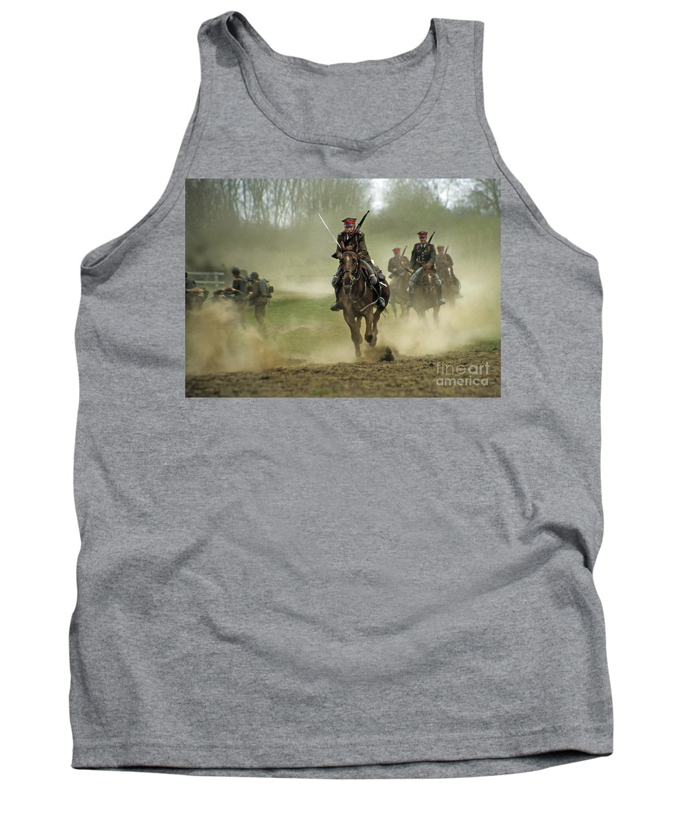 Cavalry Tank Top featuring the photograph The Battle by Angel Ciesniarska