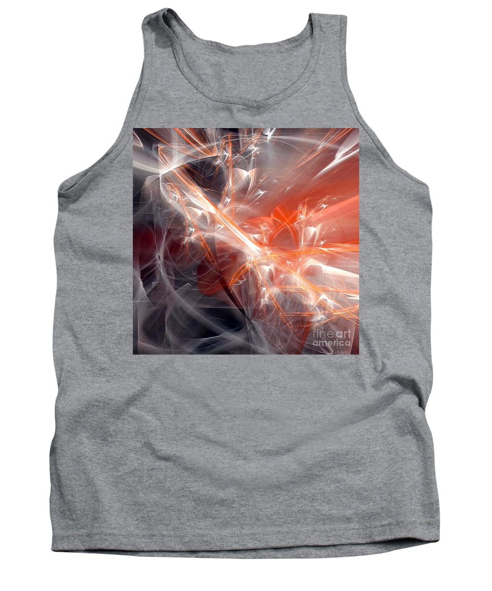 Abstract Tank Top featuring the digital art The Battle by Margie Chapman