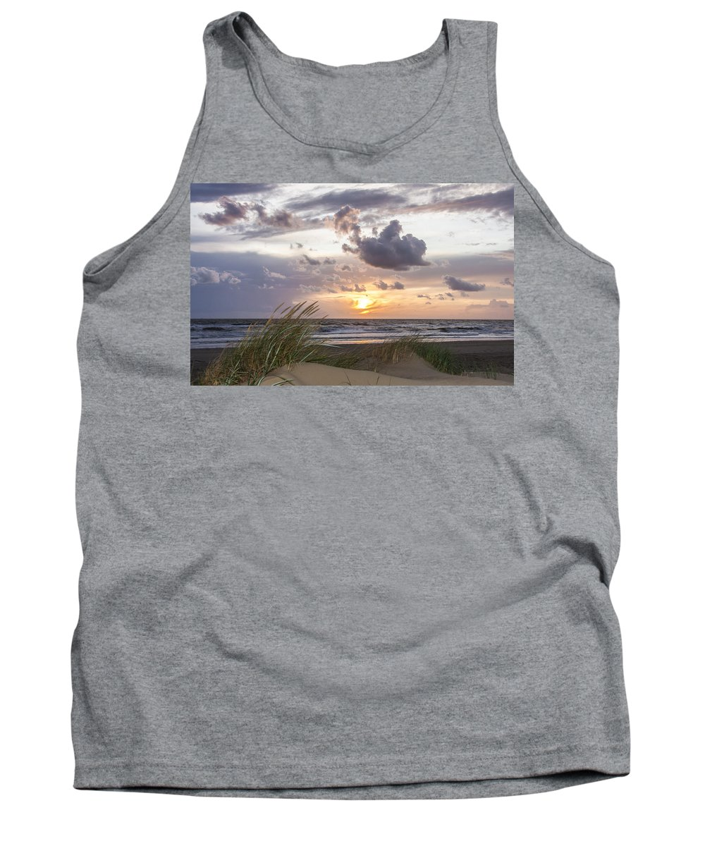 Sky Tank Top featuring the photograph The Beach Part 3 by Alex Hiemstra