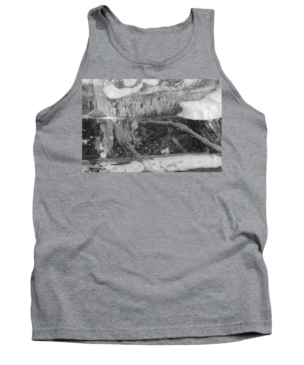 Abstract Tank Top featuring the photograph The Beauty Of Ice by Tonya Hance