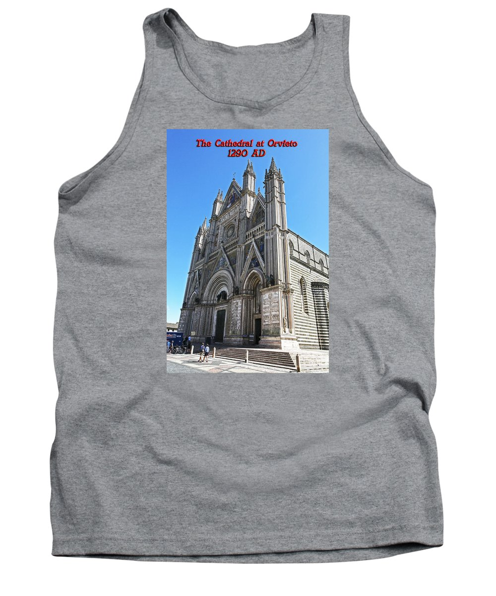 Italy 2014 Tank Top featuring the photograph The Cathedral At Orvieto by Eric Swan