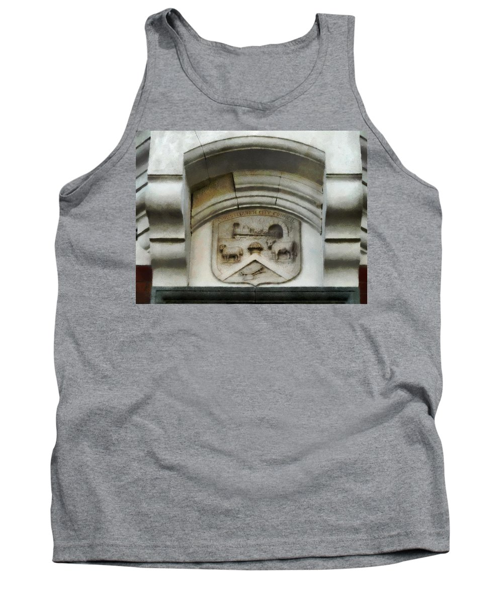 Canterbury Tank Top featuring the photograph The Crest Of The Christchurch City Council by Steve Taylor