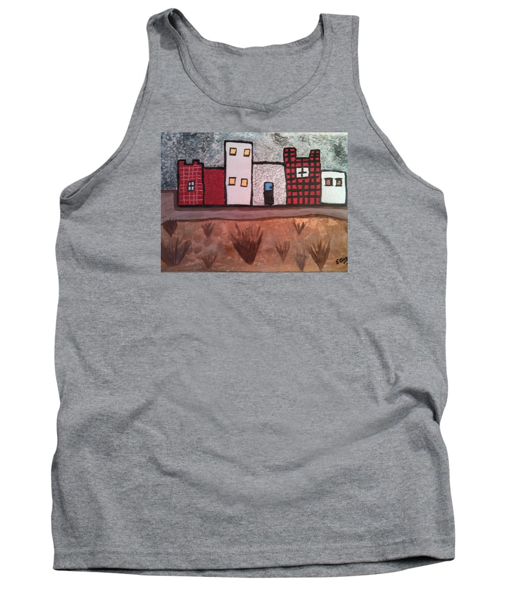 Landscape Tank Top featuring the painting The Desert by Earnestine Clay