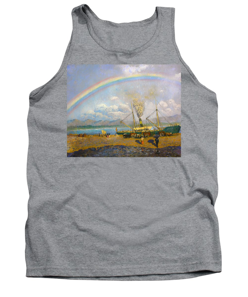 Painting Tank Top featuring the painting The Downpour by Mountain Dreams