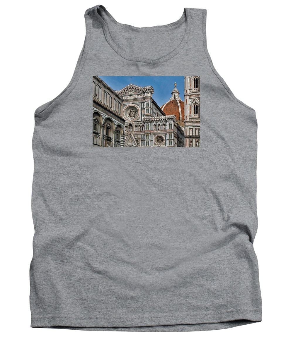 Italy Tank Top featuring the photograph The Duomo And Baptistery Of St. John by Ayhan Altun