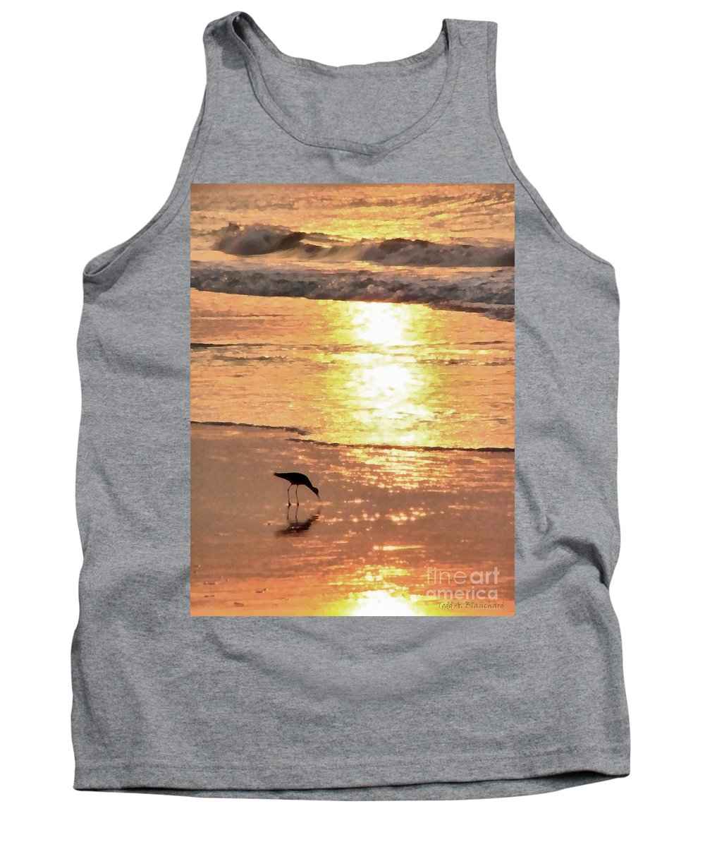 Landscape Tank Top featuring the photograph The Early Bird by Todd Blanchard