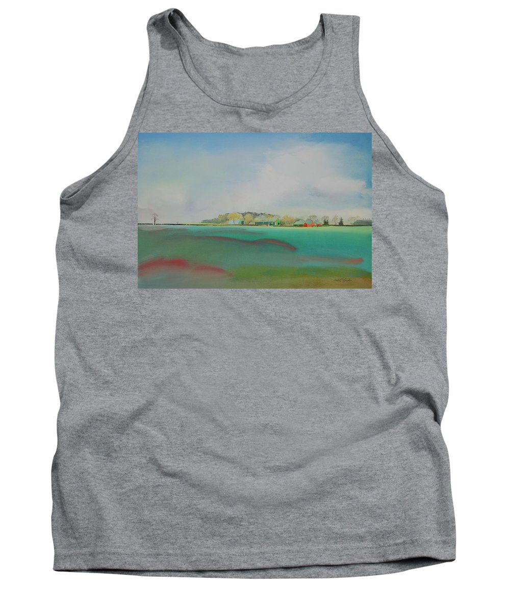 Landscape Tank Top featuring the painting The English Farm  A Break In The Cloud by Charles Stuart