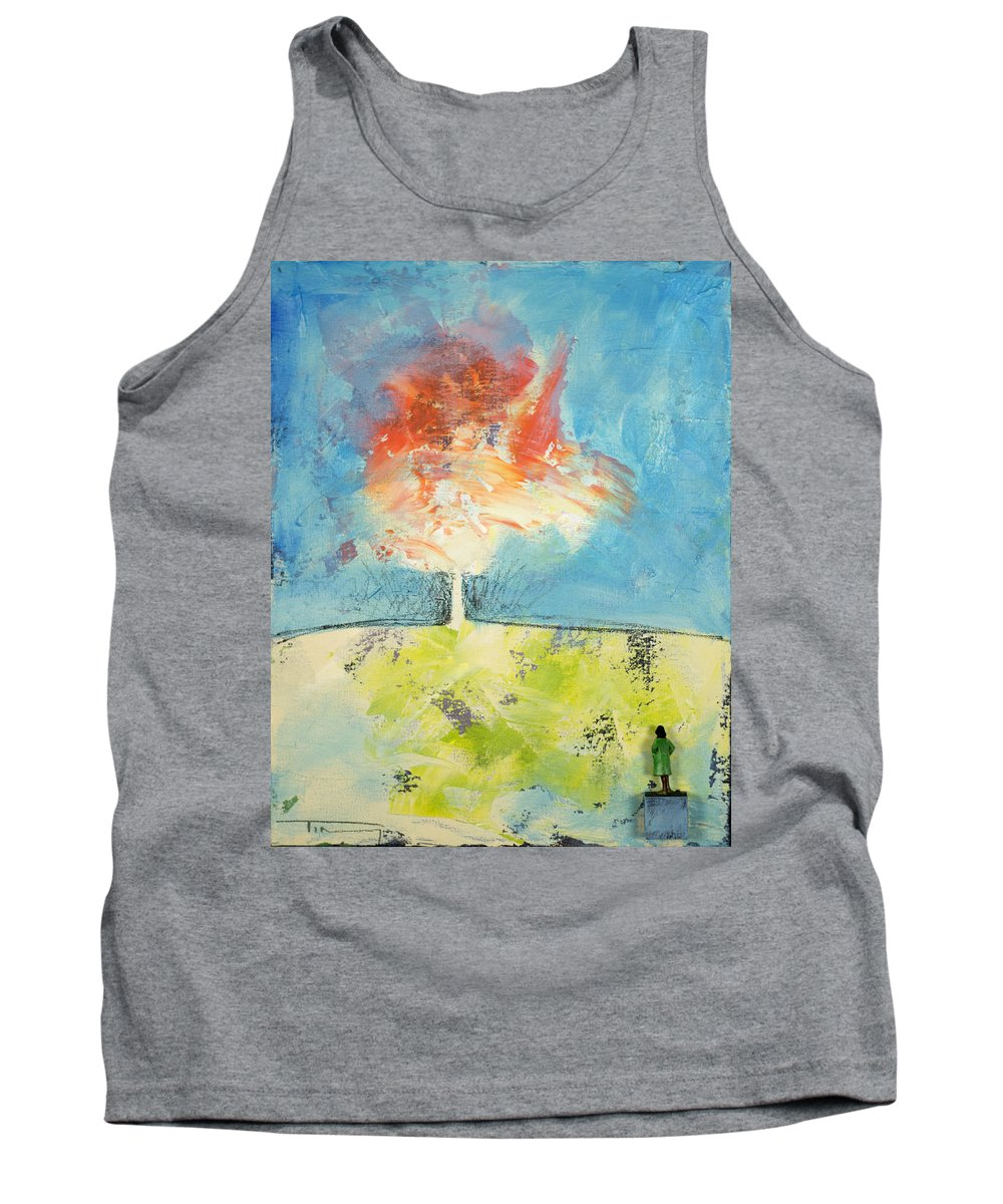 Autumn Tank Top featuring the painting The Event by Tim Nyberg
