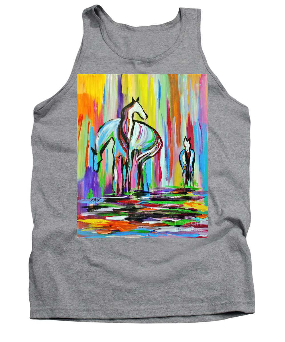 Art Tank Top featuring the painting The Family by Janice Pariza
