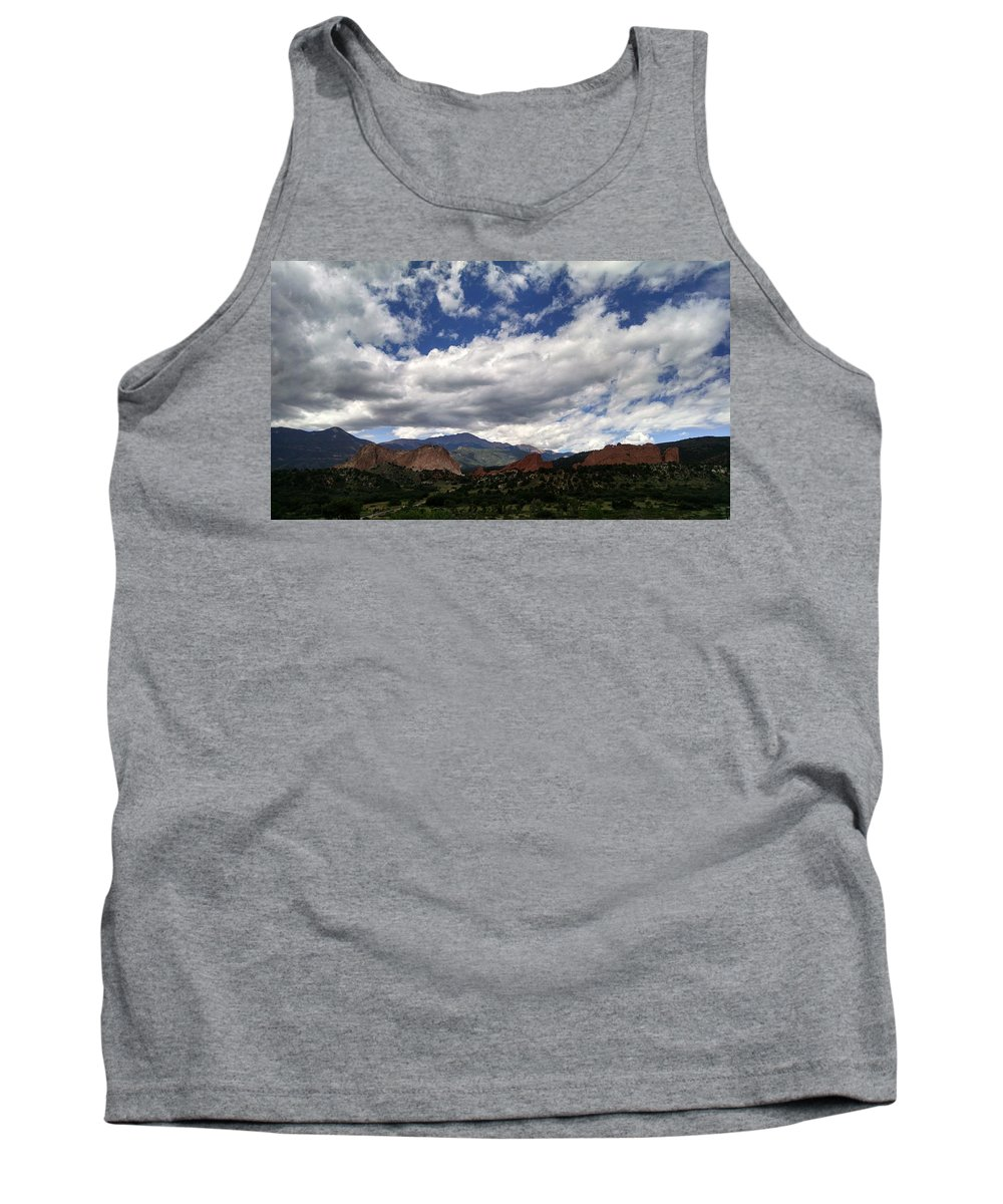 The Garden Of The Gods Tank Top featuring the photograph The Garden Of The Gods by Jennifer Forsyth