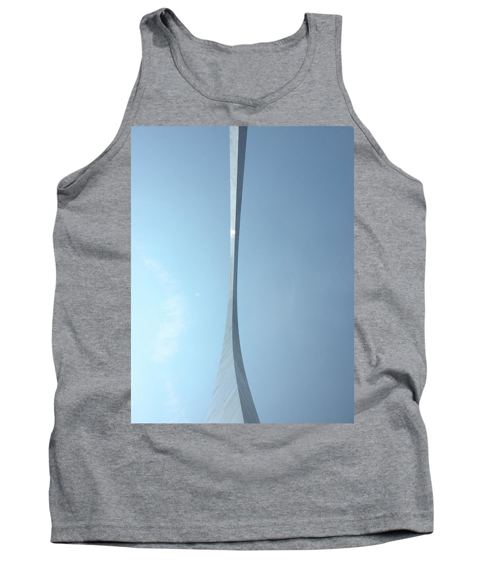 Jefferson National Expansion Memorial Tank Top featuring the photograph The Gateway Arch St Louis 04 by Thomas Woolworth