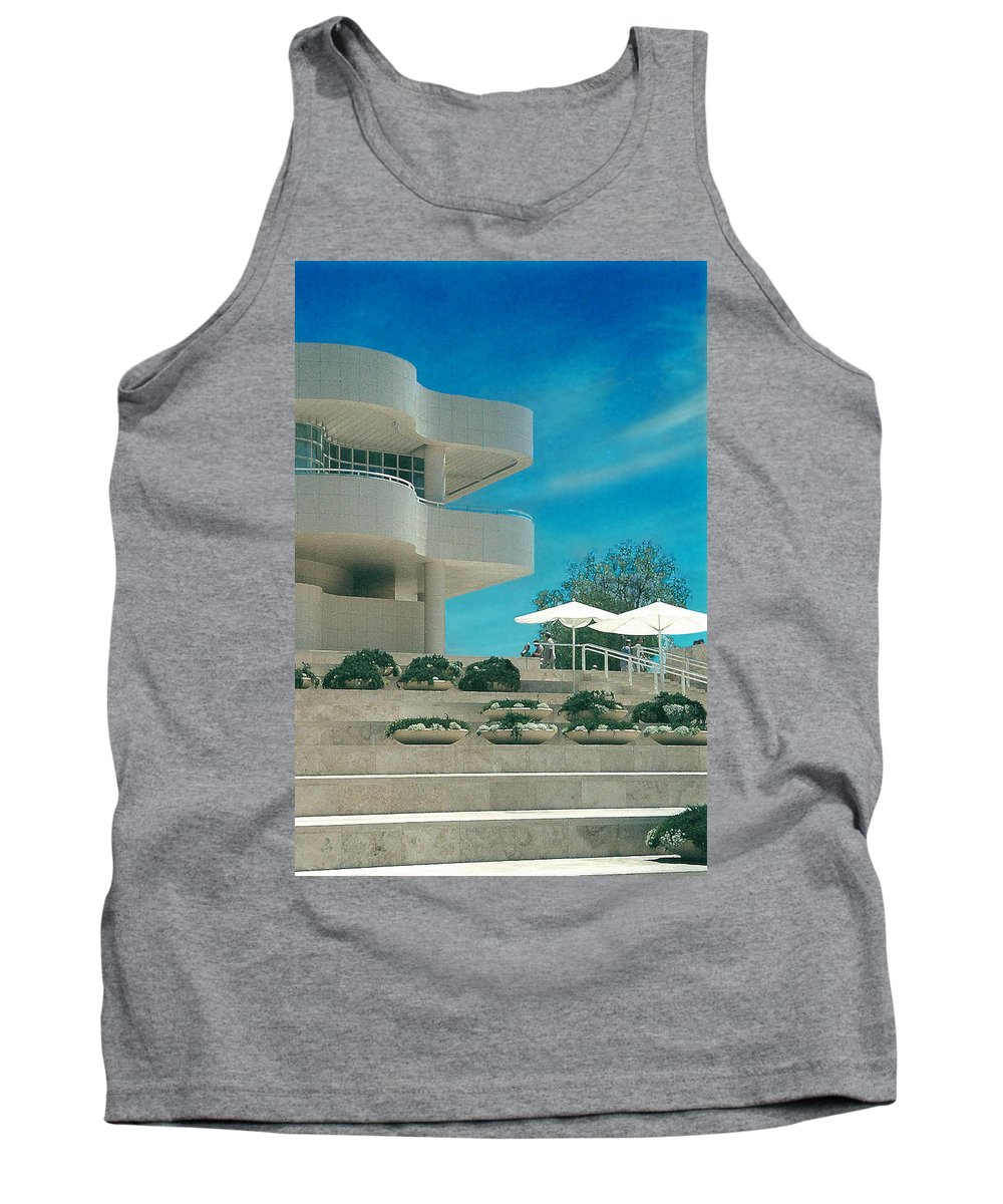 Landscape Tank Top featuring the photograph The Getty Panel 1 by Steve Karol
