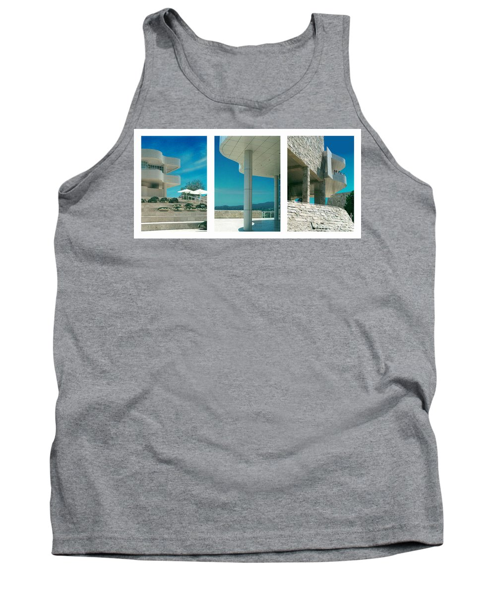 Abstract Tank Top featuring the photograph The Getty Triptych by Steve Karol