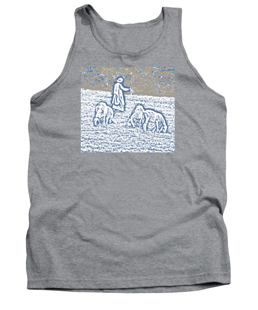 Expressive Tank Top featuring the photograph The Good Shepherd 2 by Lenore Senior