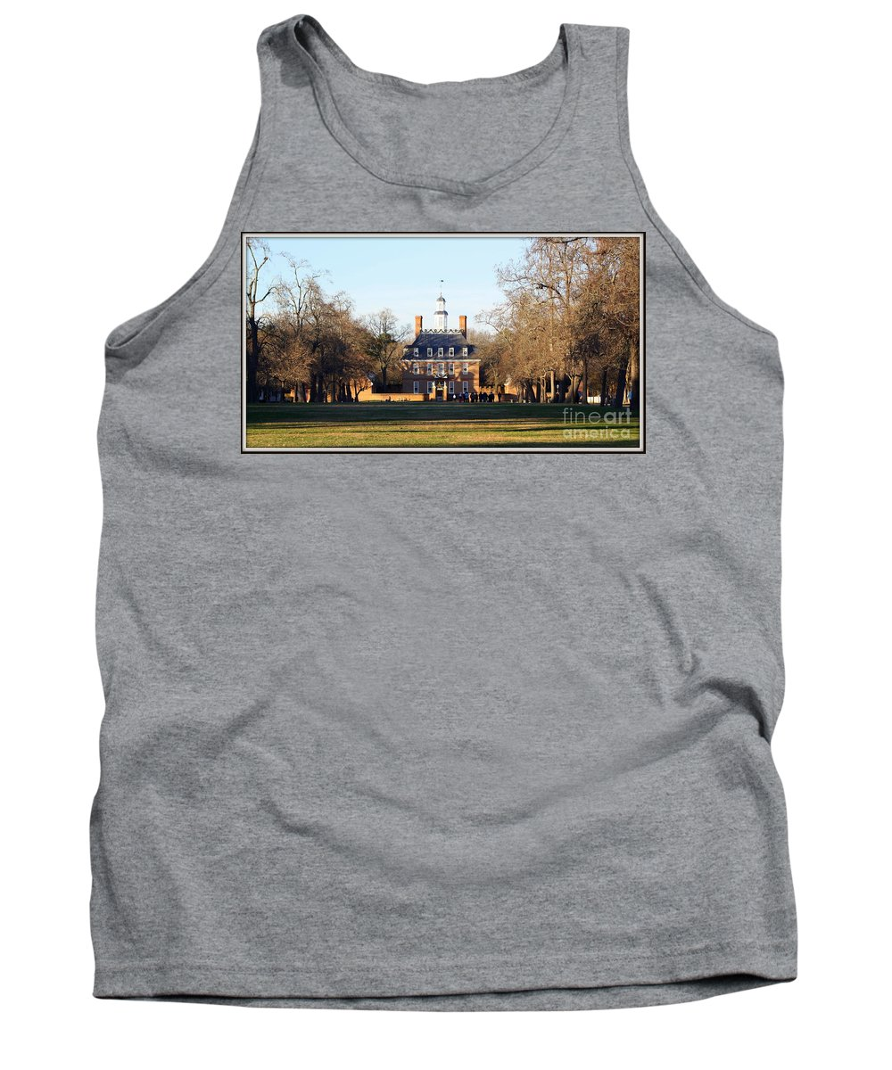 The Governor's Palace Tank Top featuring the photograph The Governor's Palace by Patti Whitten