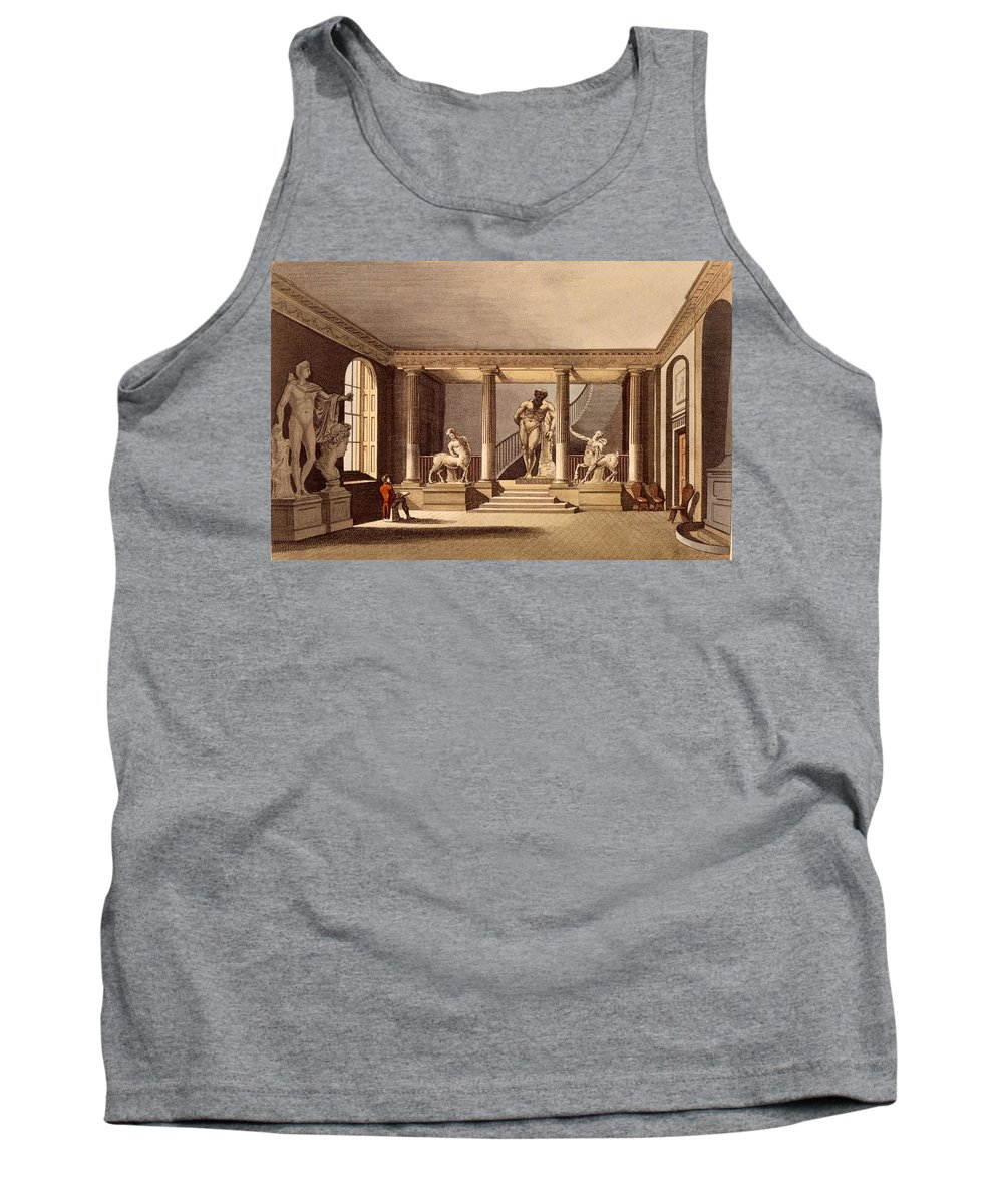 Hall At The Royal Academy Tank Top featuring the drawing The Hall At The Royal Academy, Somerset by English School