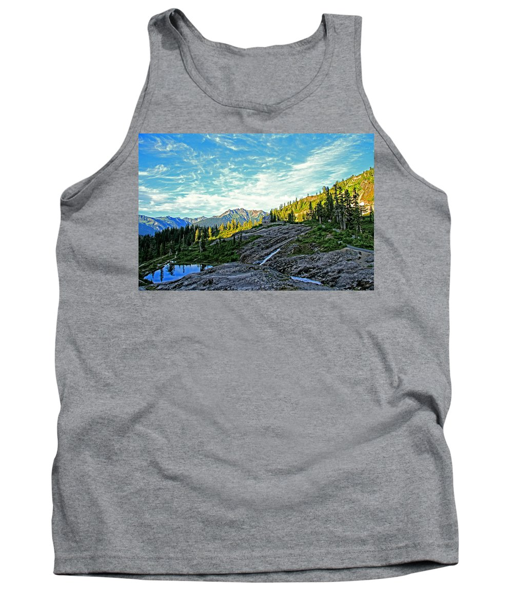 Mountain Tank Top featuring the photograph The Hut. by Eti Reid