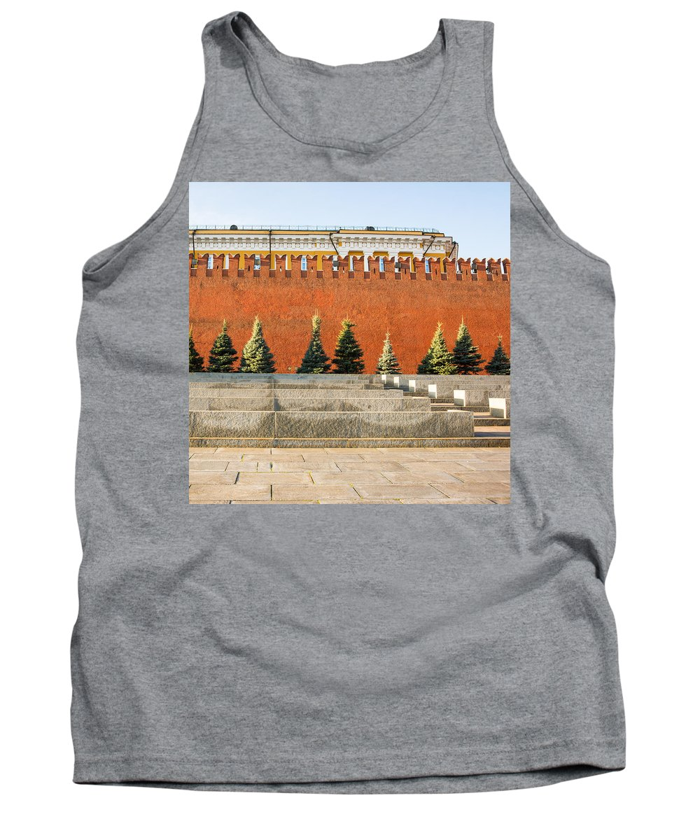 Architecture Tank Top featuring the photograph The Kremlin Wall - Square by Alexander Senin