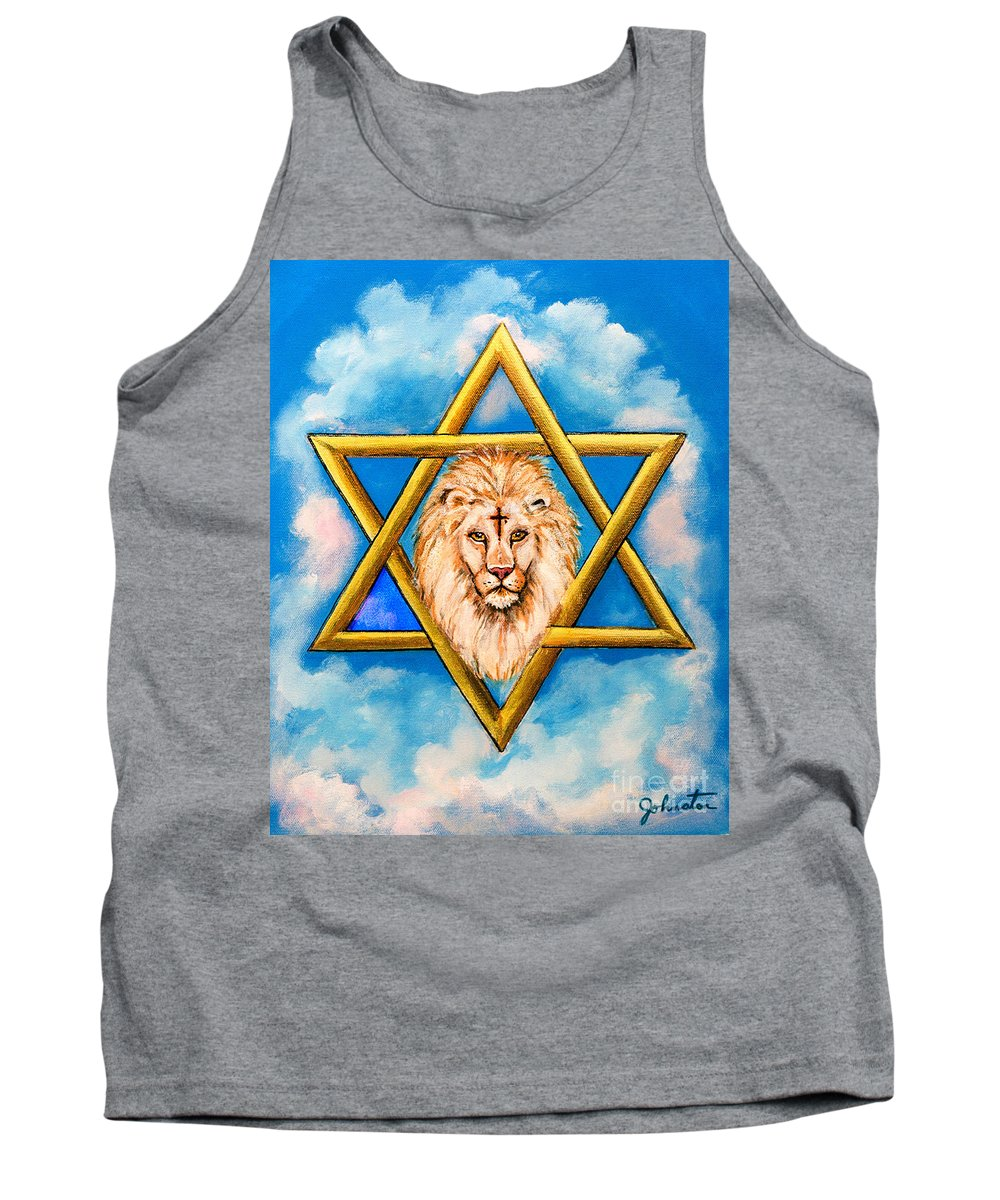 Anointed Tank Top featuring the painting The Lion Of Judah #5 by Bob and Nadine Johnston