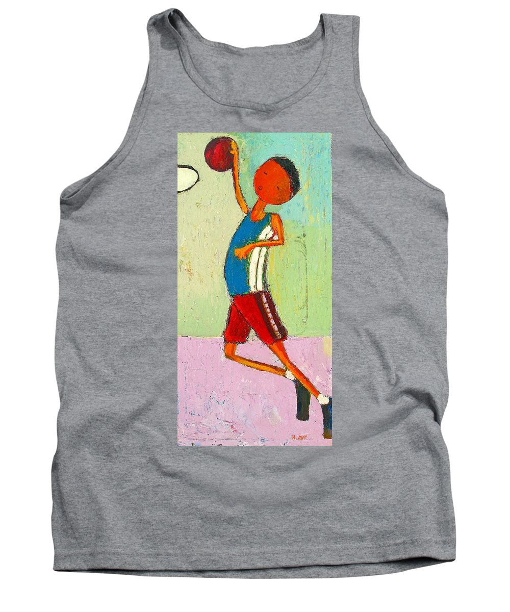 Abstract Tank Top featuring the painting The Little Champion by Habib Ayat