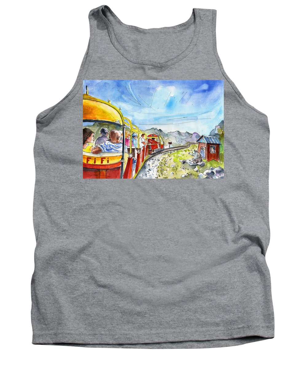 Travel Tank Top featuring the painting The Little Train Of Artouste by Miki De Goodaboom