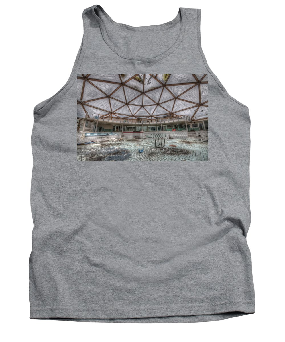 Health Tank Top featuring the digital art The Main Pool by Nathan Wright