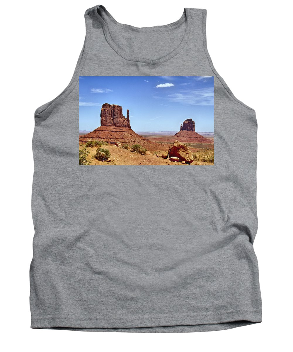 Mittens Tank Top featuring the photograph The Mittens Monument Valley by Debby Richards