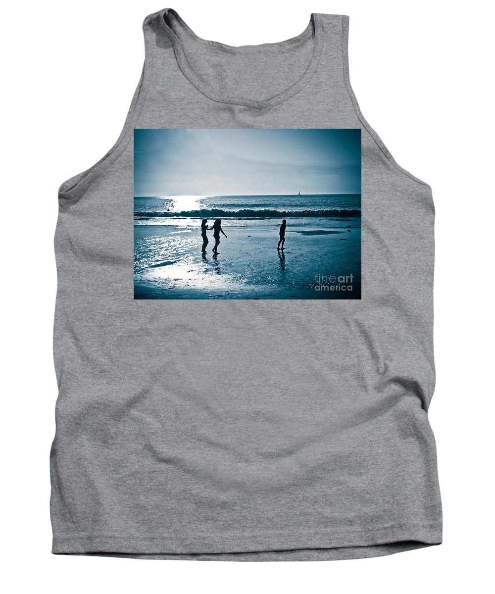 Beach Tank Top featuring the photograph The Moment Of Sunset by Fei A