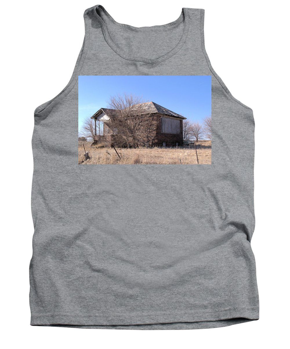 School Tank Top featuring the photograph The Old Brick School by Bonfire Photography