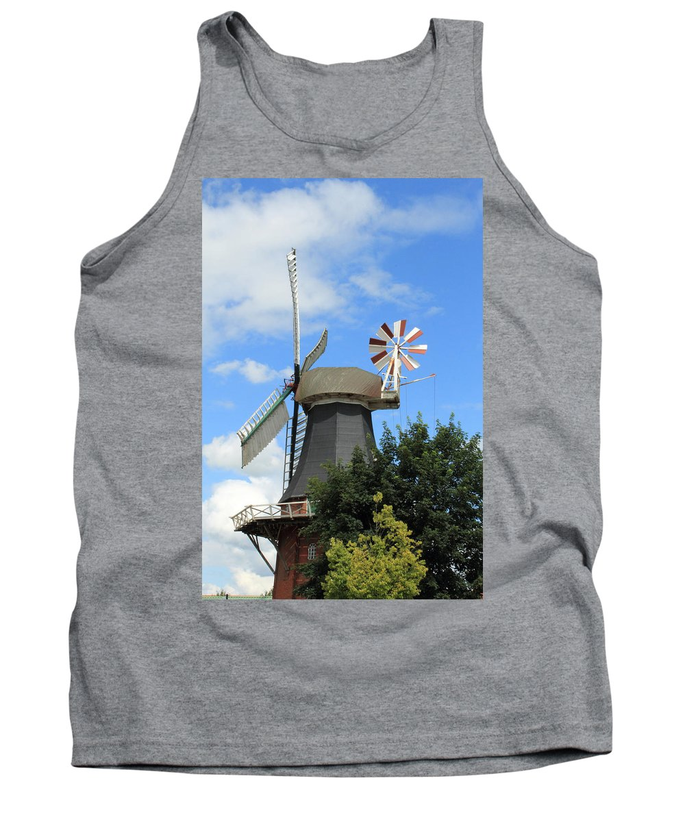 Mill Miller Blue Sky Tree Trees Summer Old Photograph Landscape Tank Top featuring the photograph The Old Mill by Steve K
