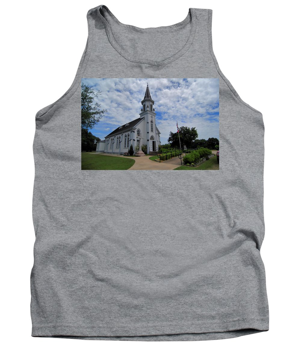 Cyril And Methodius Tank Top featuring the digital art The Painted Churches by Linda Unger