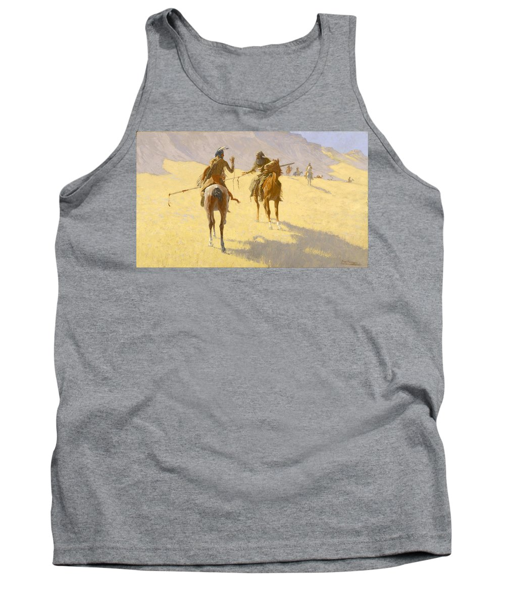 Frederic Remington Tank Top featuring the painting The Parley by Frederic Remington