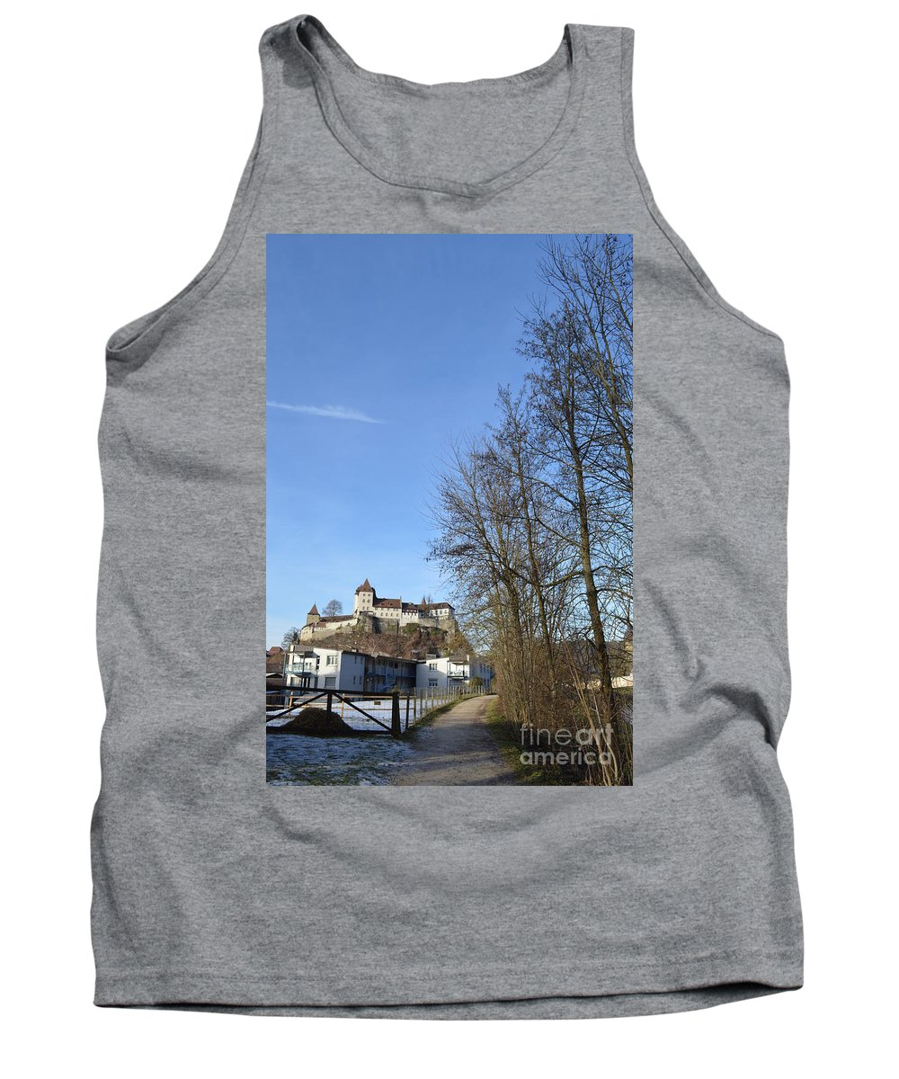 Landscape Tank Top featuring the photograph The Path To The Castle by Felicia Tica