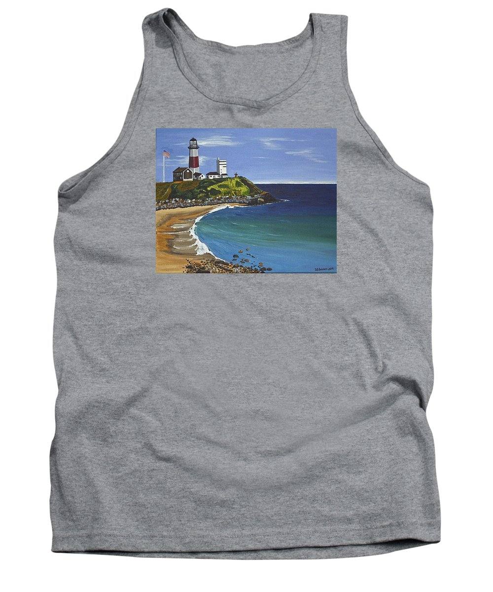 Landscape Tank Top featuring the painting The Point by Donna Blossom