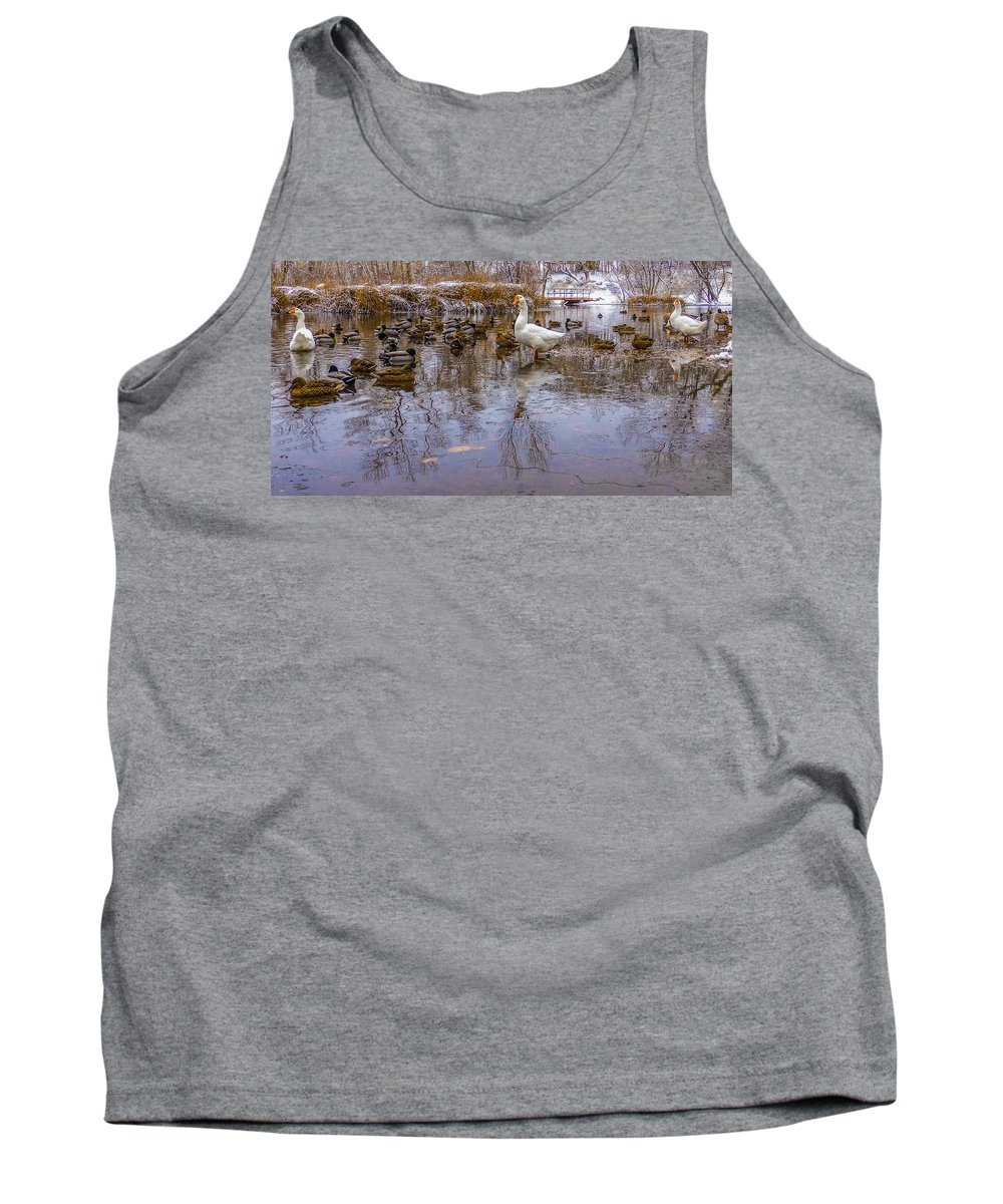 Gigimarie Tank Top featuring the photograph The Pond by Gina Herbert