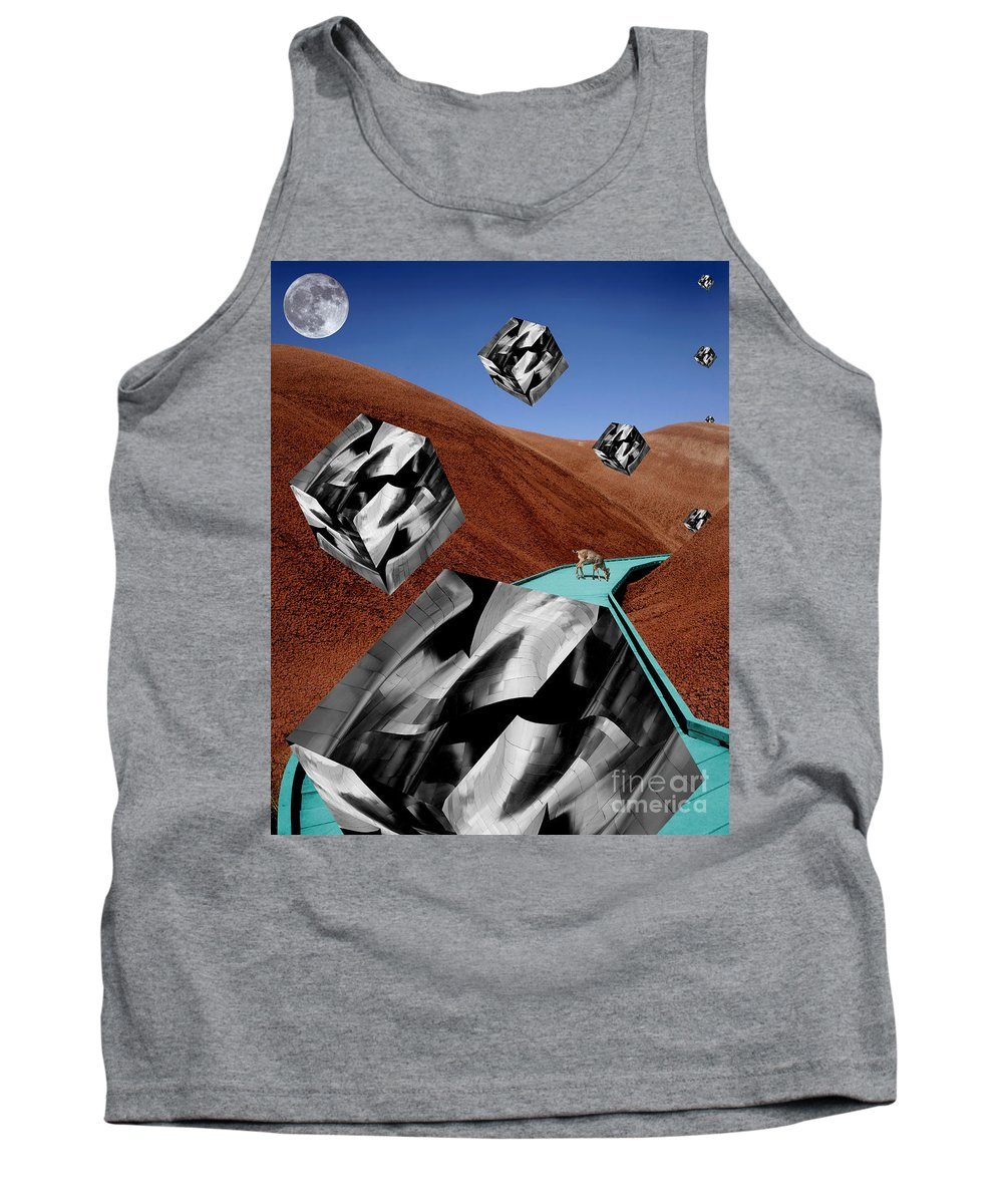Landscape Tank Top featuring the digital art The Recolonization by Keith Dillon