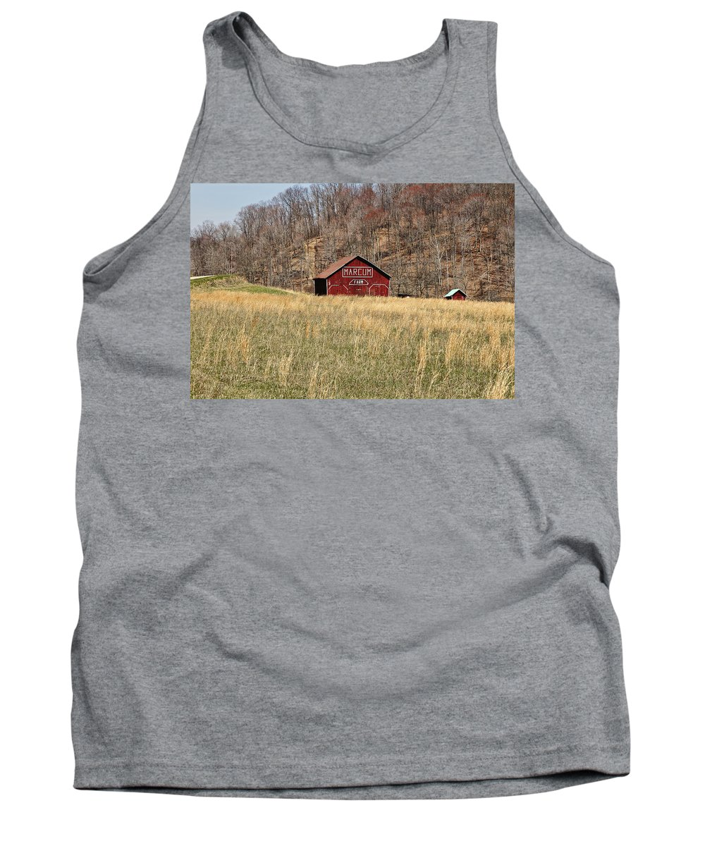 Agriculture Tank Top featuring the photograph The Red Barn by Jack R Perry