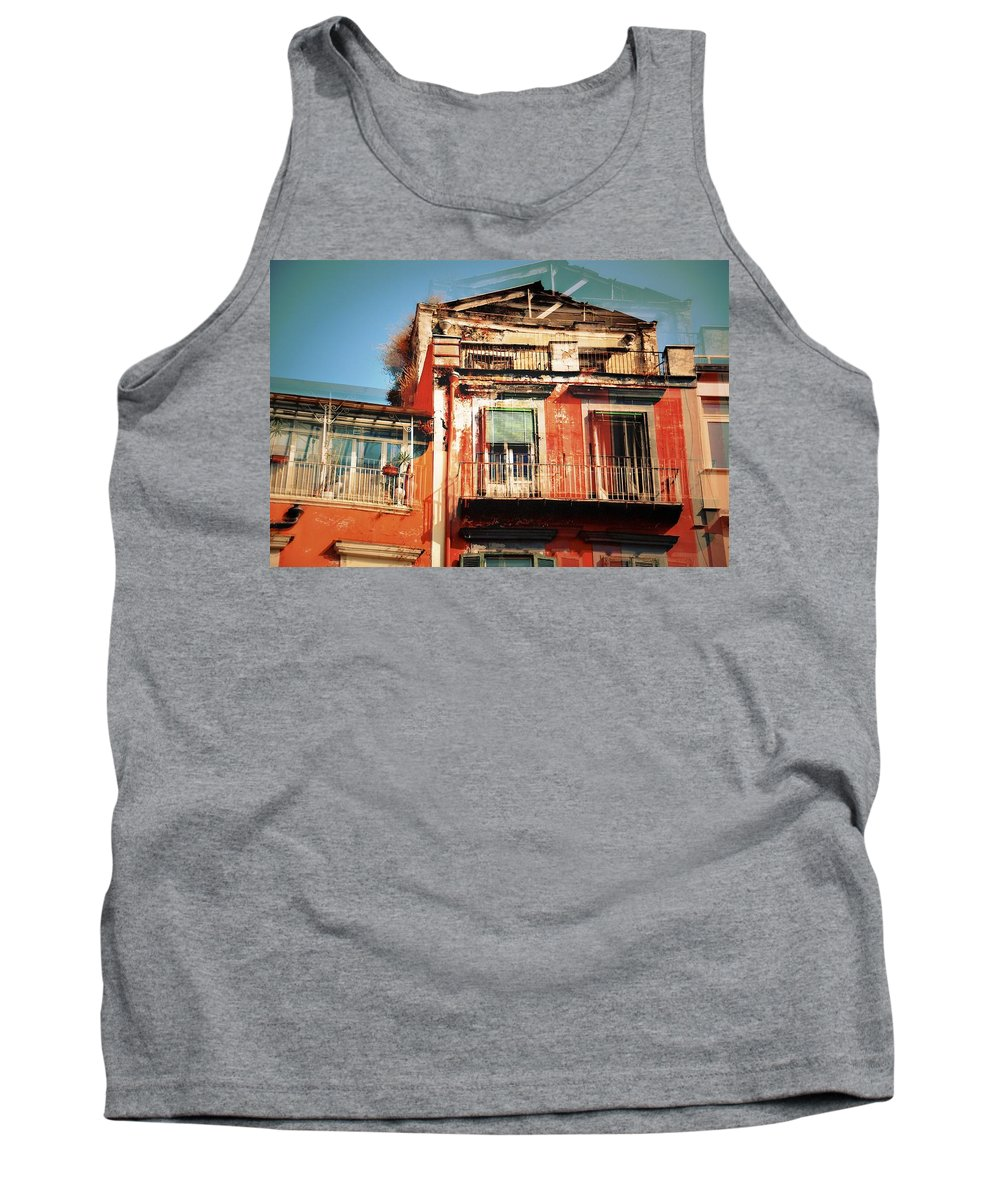 Abstract Tank Top featuring the photograph The Rustic Look In Naples Italy by David Coleman
