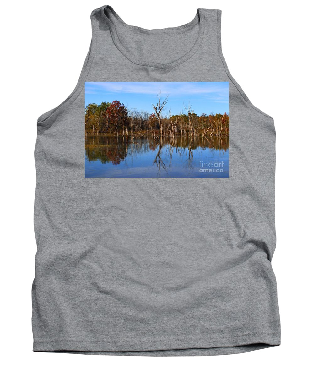 Tank Top featuring the photograph The Silence Of Fancher Davidge by Chet B Simpson