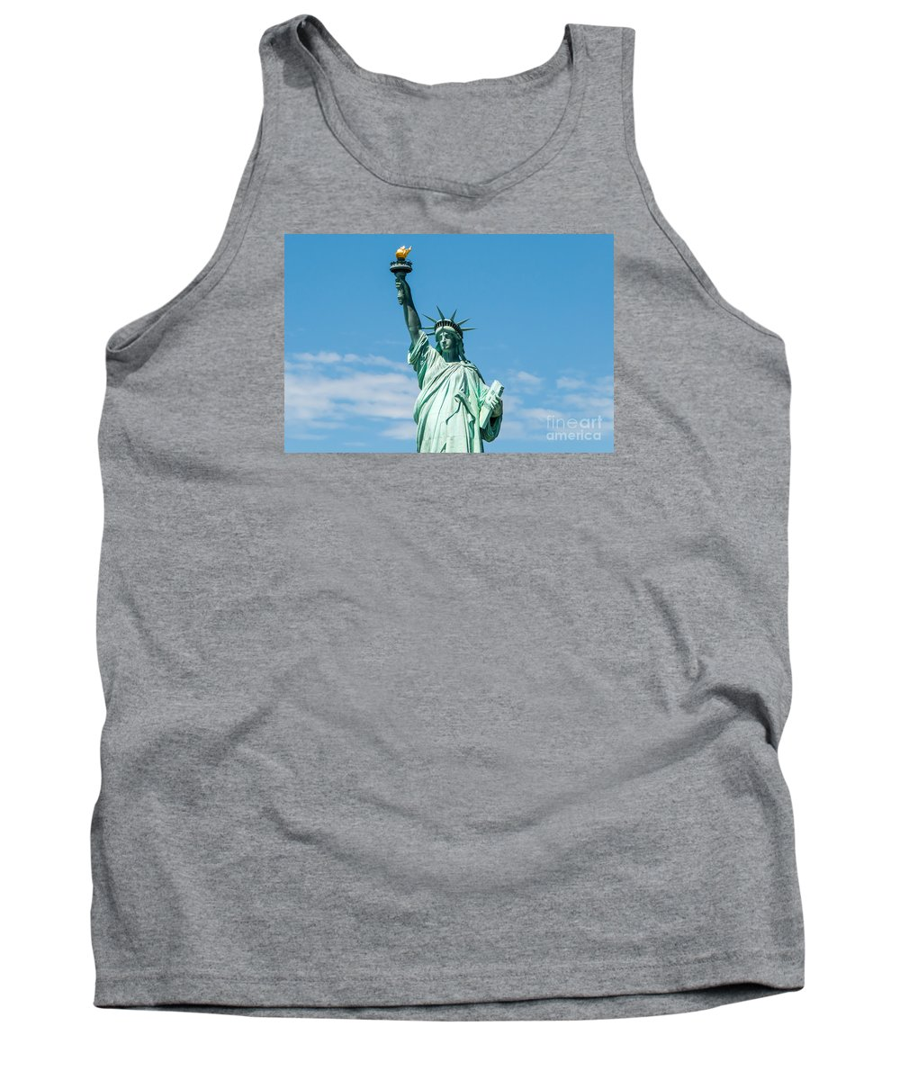 Statue Of Liberty Tank Top featuring the photograph The Statue Of Liberty by Anthony Sacco