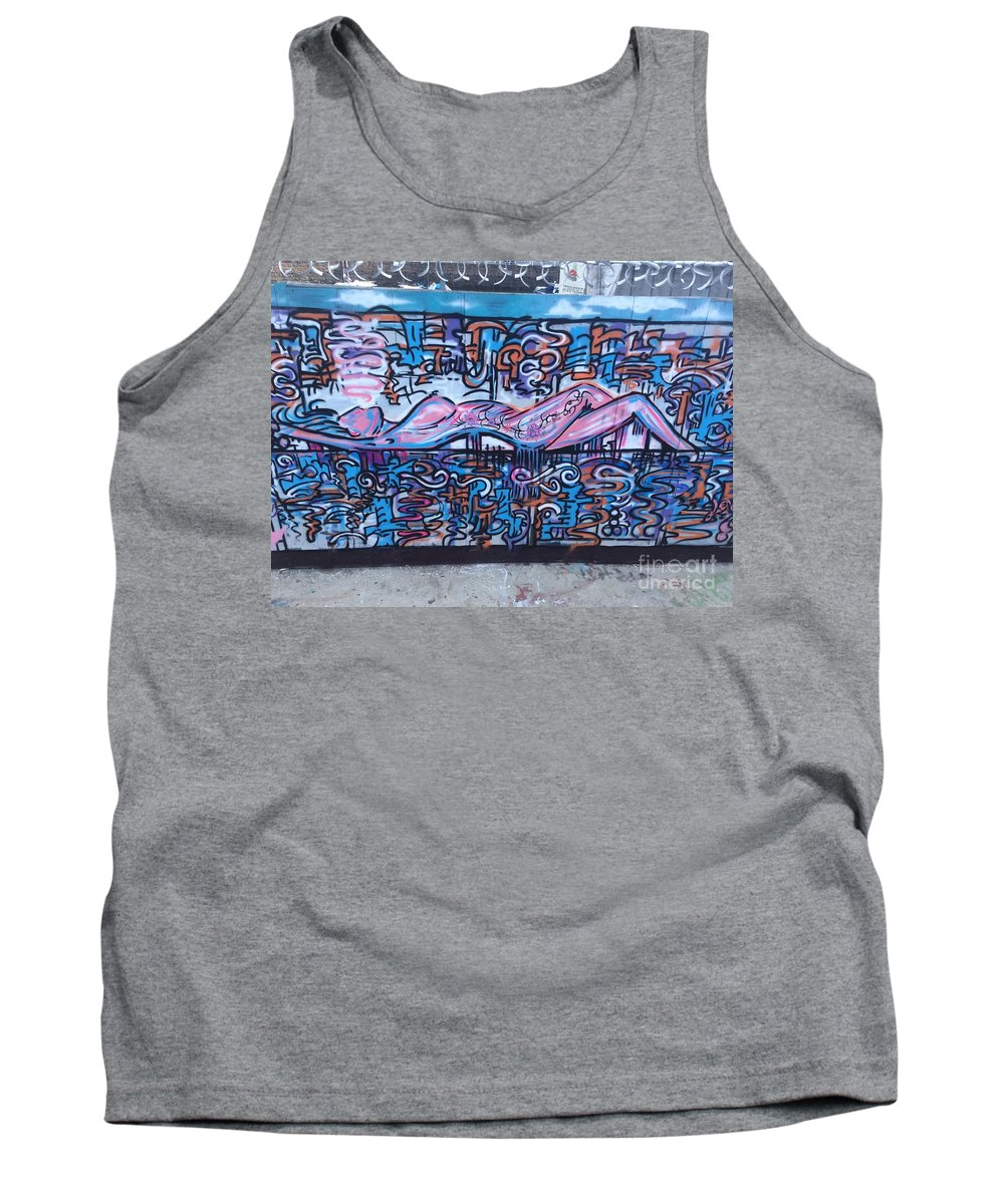 Graffiti Tank Top featuring the mixed media The Toke... by Lowkey Luciano