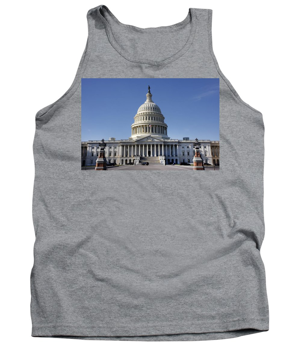 Kg Tank Top featuring the photograph The United States Capitol by KG Thienemann