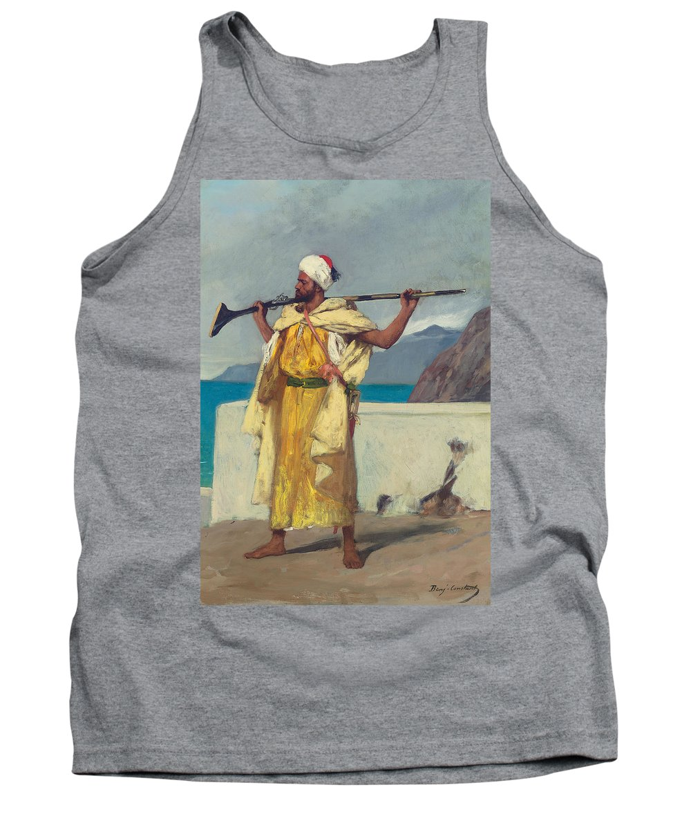 The Watchful Guard Tank Top featuring the painting The Watchful Guard by Jean Joseph Benjamin Constant