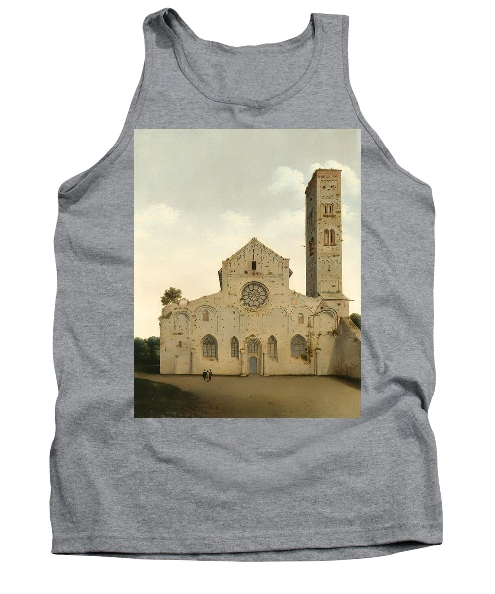 Painting Tank Top featuring the painting The West Facade Of The Church Of Saint Mary In Utrecht by Mountain Dreams