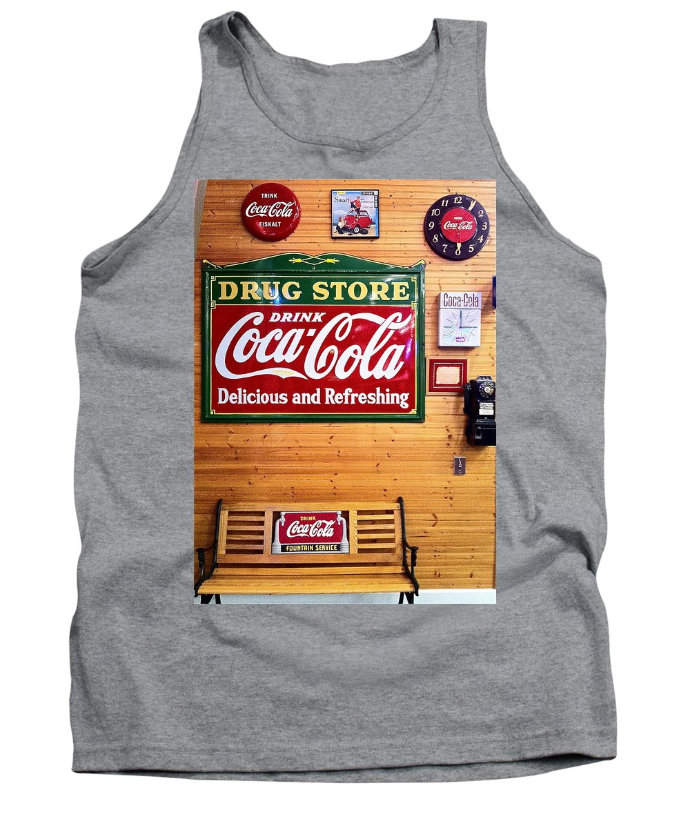 Coca Cola Tank Top featuring the photograph Things Go Better With Coke by Denise Mazzocco