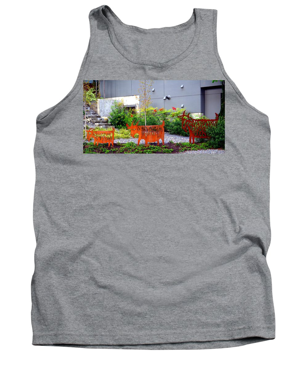 Three Billy Goats Gruff Tank Top featuring the photograph Three Billy Goats Gruff by Tikvah's Hope