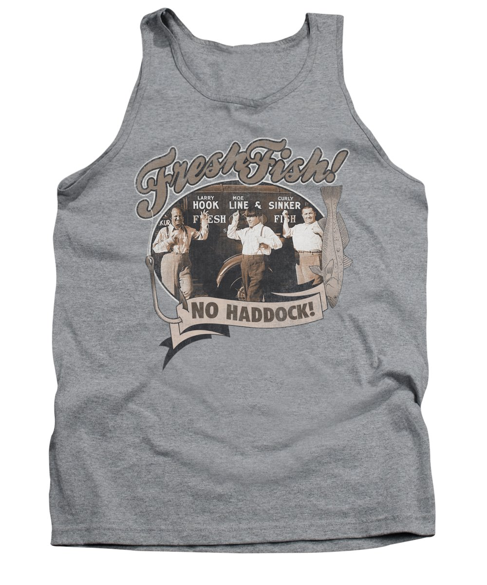 The Three Stooges Tank Top featuring the digital art Three Stooges - Fresh Fish by Brand A